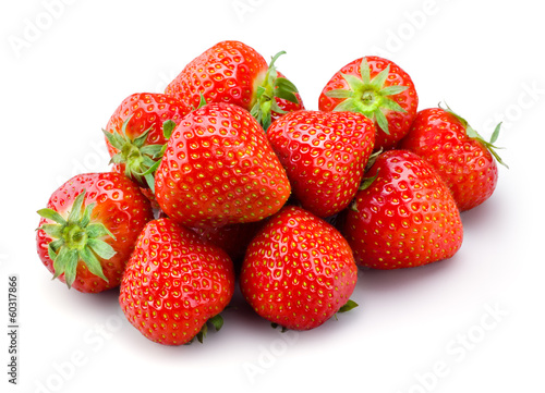 Strawberry. Fruits on white background