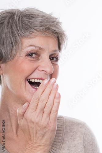 beim lachen