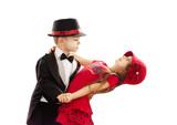Fototapety Lovely little boy and girl dancing