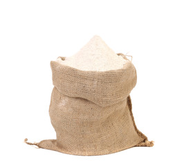 Sack with wheat flour.