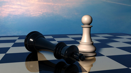 Chess: end of battle