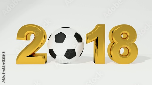 Fussball WM 2018 in Gold