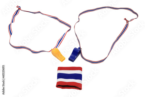 Thai flag wristband and Whistles