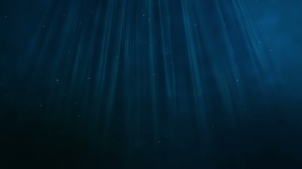 Deep blue water.