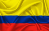Flag of Colombia waving with silky look