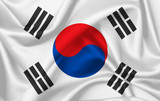 Flag of South korea waving with silky look
