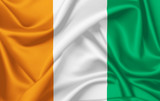 Flag of Ivory Coast waving with silky look