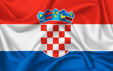Flag of Croatia waving with silky look
