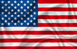 Flag of United States of america waving with silky look