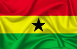 Flag of ghana waving with silky look