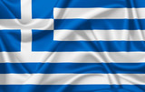 Flag of Greece waving with silky look