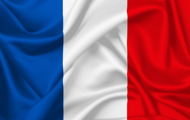 Flag of France waving with silky look
