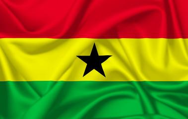 Flag of ghana waving with silky look