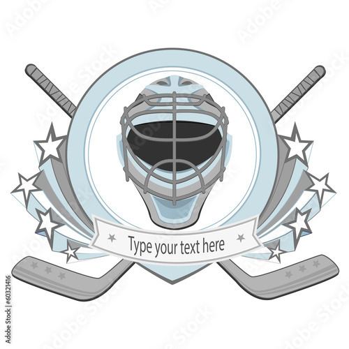Ice hockey labels, badges