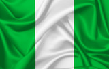 Flag of Nigeria waving with silky look