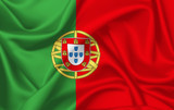 Flag of Portugal waving with silky look