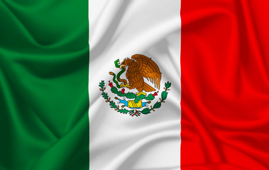 Flag of Mexico waving with silky look