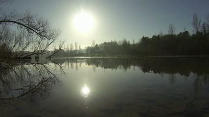 lac en pleine nature