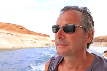 homme au lac powell, Arizona-Utah