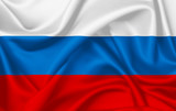 Flag of Russia waving with silky look