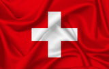 Flag of Switzerland waving with silky look