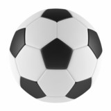 Football ball isolated at the white background