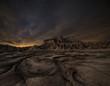 Leinwanddruck Bild - Night over the desert
