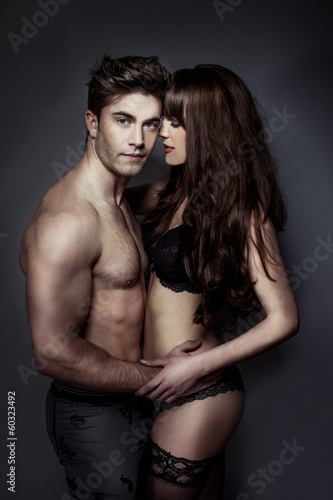 Erotic portrait of a sexy couple