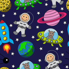 Cartoon seamless space