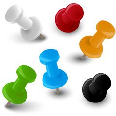 Set verschiedene farbige Pinnadeln