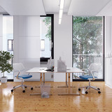 schlichter arbeitsplatz - workplace in white office