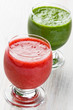 Strawberry and spinach smoothie juice