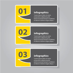 Modern flat  infographics or numbered banners