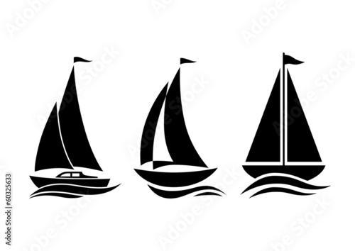 Sailboat icons - 60325633