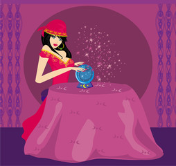 Fortune-teller with Crystal Ball