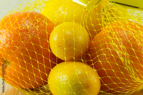 Tropical Fruits in net