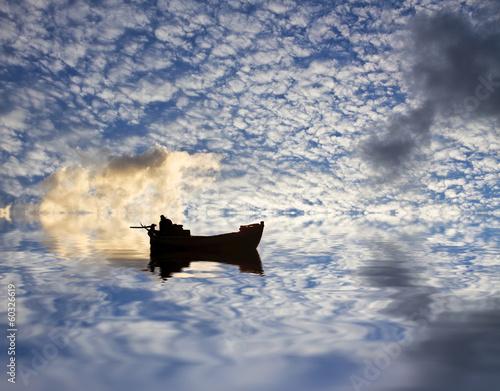Fotobehang Een Hoekje om te Dromen surcando las nubes