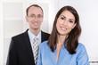 Geschäftsfrau mit Kollege - Business Portrait - Team