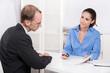Beratungsgespräch bei einer Bank oder Versicherung