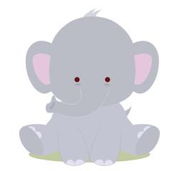 baby cute elephant, kawaii style