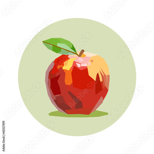 red apple draw in green circle