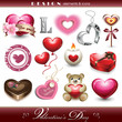 Design Elements and Icons - Valentine's Day