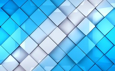 Fondo abstracto con cubos en tono azul