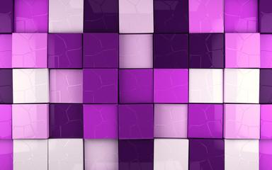 Fondo abstracto con cubos en tonos purpura
