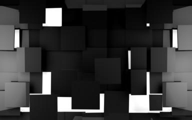 Fondo abstracto con cubos negros