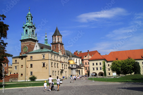 The Gothic Wawel Castle in Krakow Poland