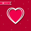 Valentine day background with heart symbol