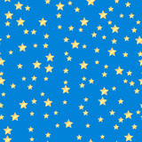 seamless pattern of gold stars on a blue background.holiday back