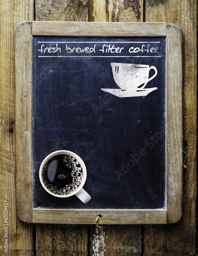 Fresh brewed filter coffee