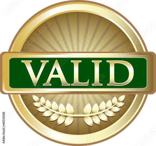 Valid Gold Round Label
